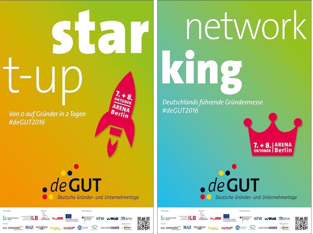 Plakatmotive für die deGUT 2016 (Foto / Grafik: deGUT)