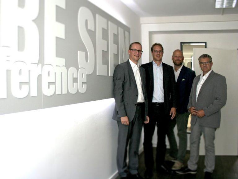 Stefan Knoke, Paul von Schubert, Markus Deserno und Frank Beyer leiten die neue Firma Gundlach Seen Media GmbH (Foto: Gundlach Seen Media)