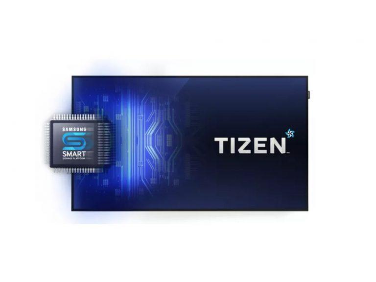 Tizen ist das neue OS der vierten Generation der Samsung SoC Screens (Foto: Signagelive)