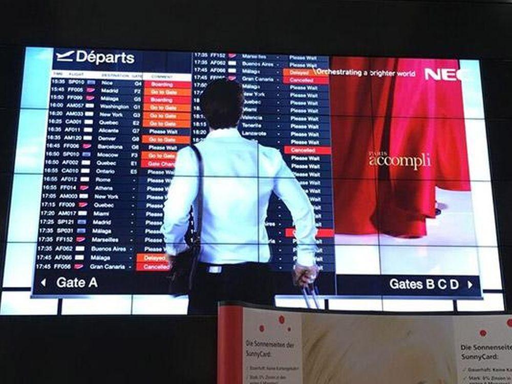 Video Wall aus 55 Zoll Screens (Foto: NEC)