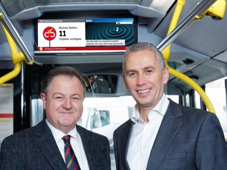 Wiener Linien Geschäftsführer DI Eduard Winter und Infoscreen Geschäftsführer Franz Solta (Foto: Gewista)