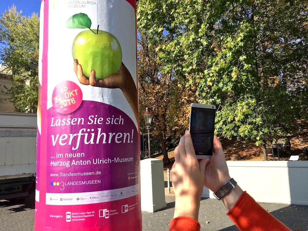 Aktuelles Plakat des HAUM mit AR Funktion (Foto: Herzog Anton Ulrich-Museum)