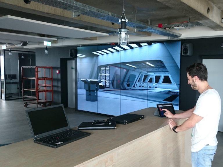 Bevor funk auf Sendung ging, ging die Video Wall in Betrieb (Foto: SWR)