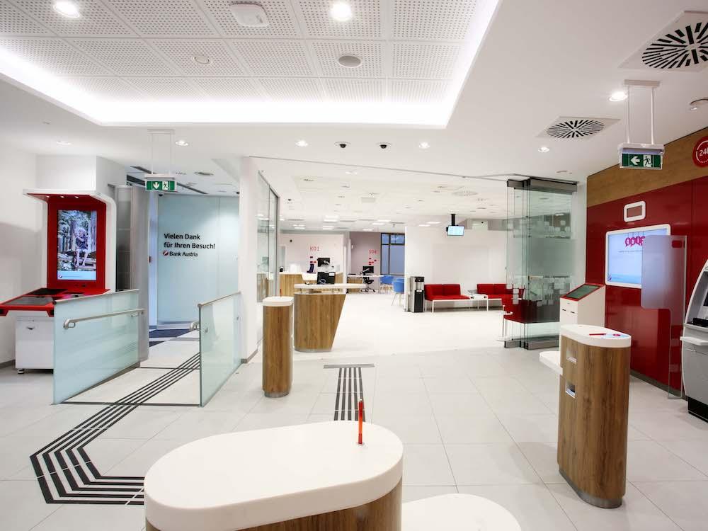 Blick in den neuen Flagship in Linz (Foto: Bank Austria)