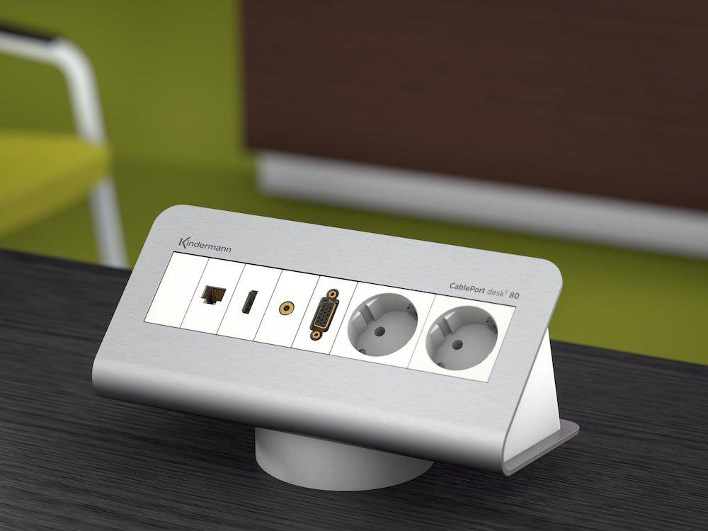 Das Cable Port Desk 2 gehört zum aktuellen Portfolio (Foto: Kindermann)