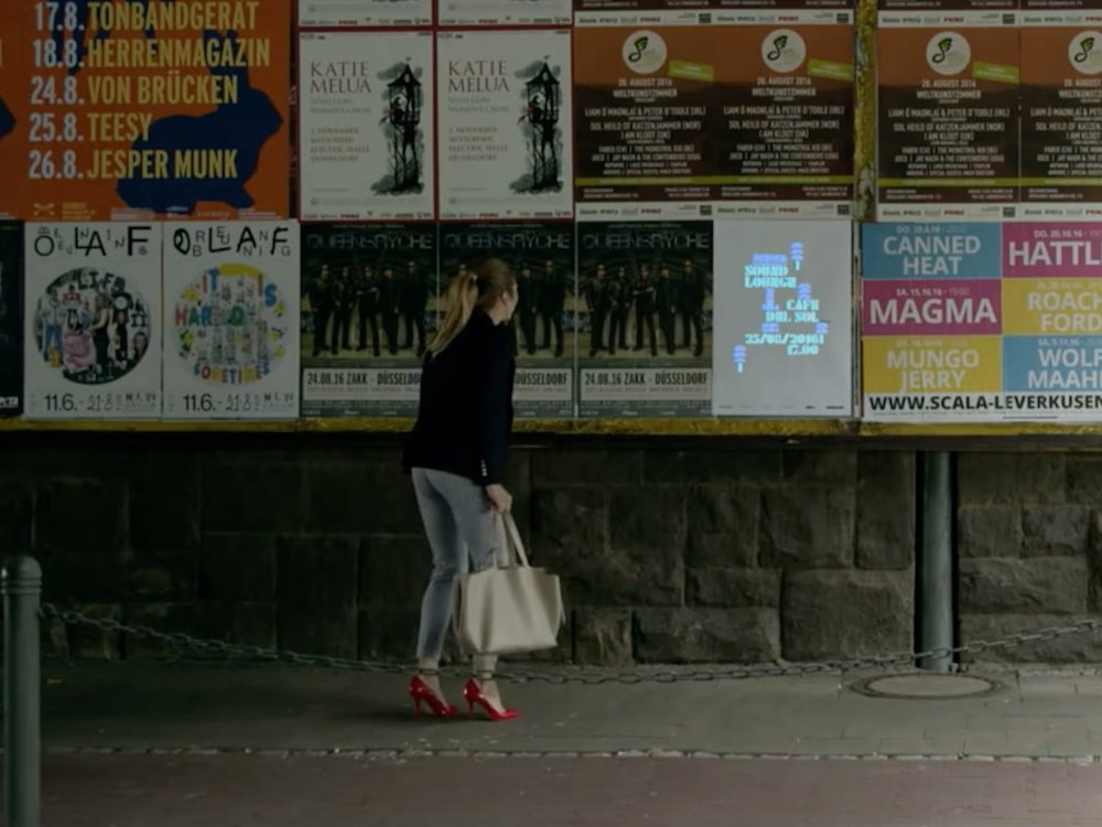 Das Soundlounge Poster erlaubt neuartige Außenwerbekampagnen (Screenshot: invidis)