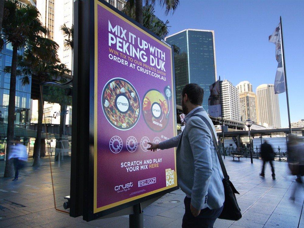 Erstes interaktives Sound-Plakat im gesamten Konzern (Foto: JCDecaux)