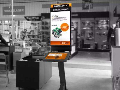 Interaktives Kiosk in einem Bolist Baumarkt (Foto. Bolist)