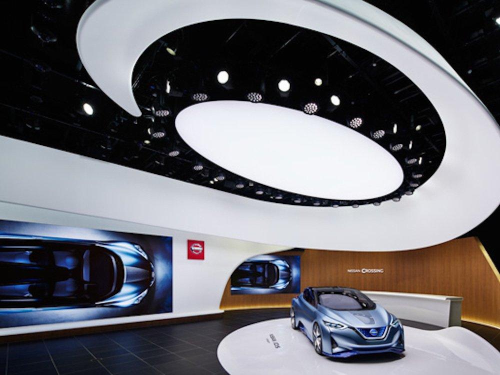 LED Screen und Interactive Wall wurden auf der Central Stage verbaut (Foto: Nissan)