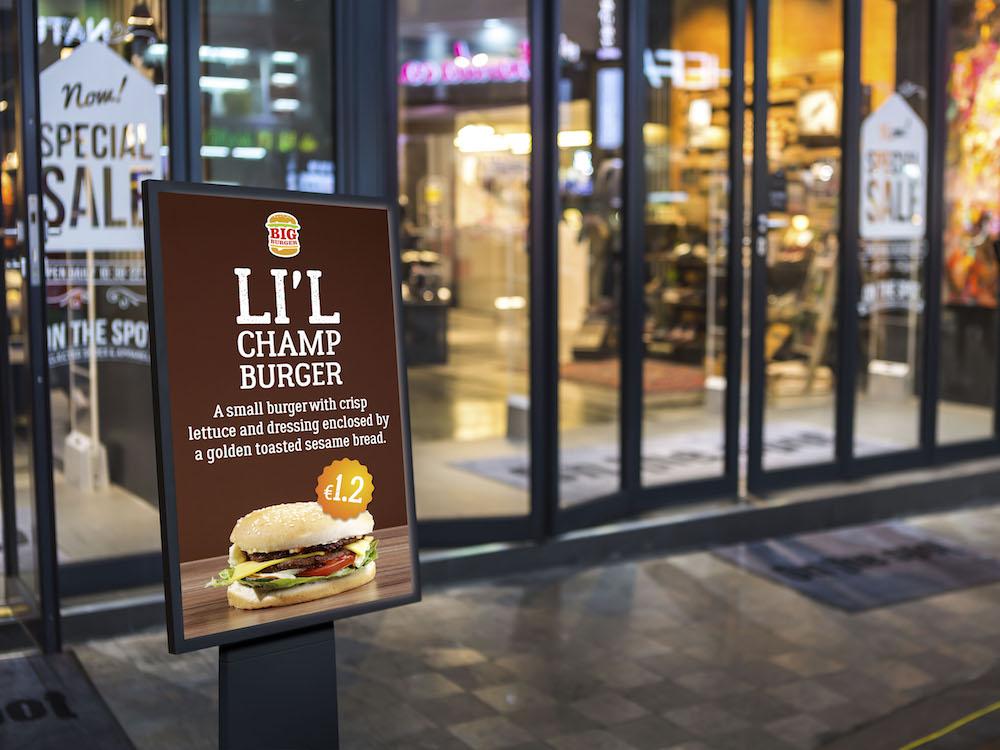 Smartsign im Einsatz in einer Retail Umgebung (Foto: Siewert & Kau)