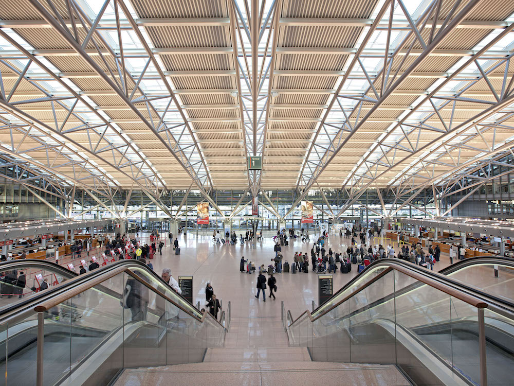 Terminal 1 am Airport Hamburg (Foto: Flughafen Hamburg / Michael Penner)