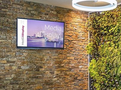 Unter Media4Display laufender Digital Signage Screen (Foto: Telelogos)