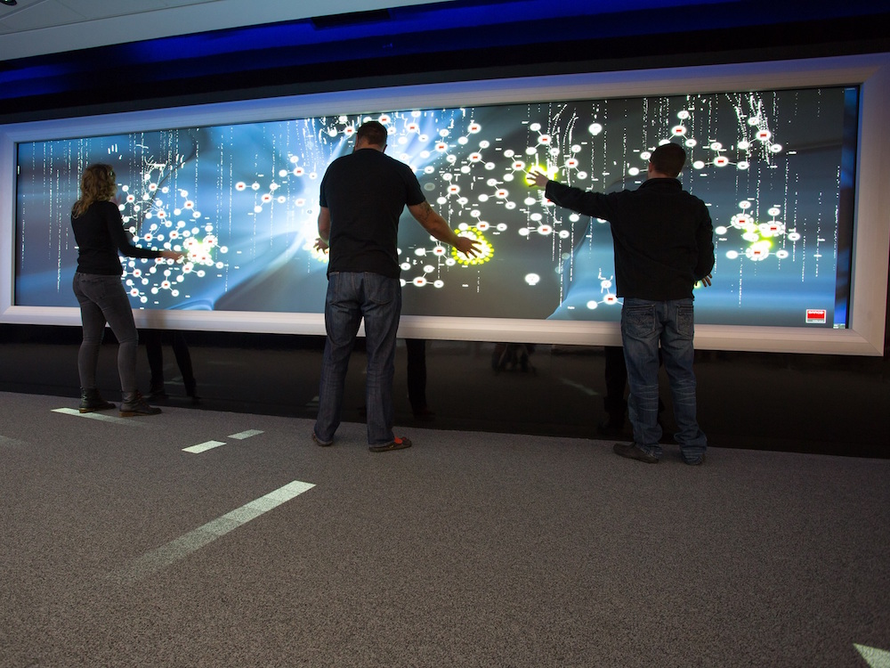 Video Wall im Experience Center von Telkom SA (Foto: Barco)