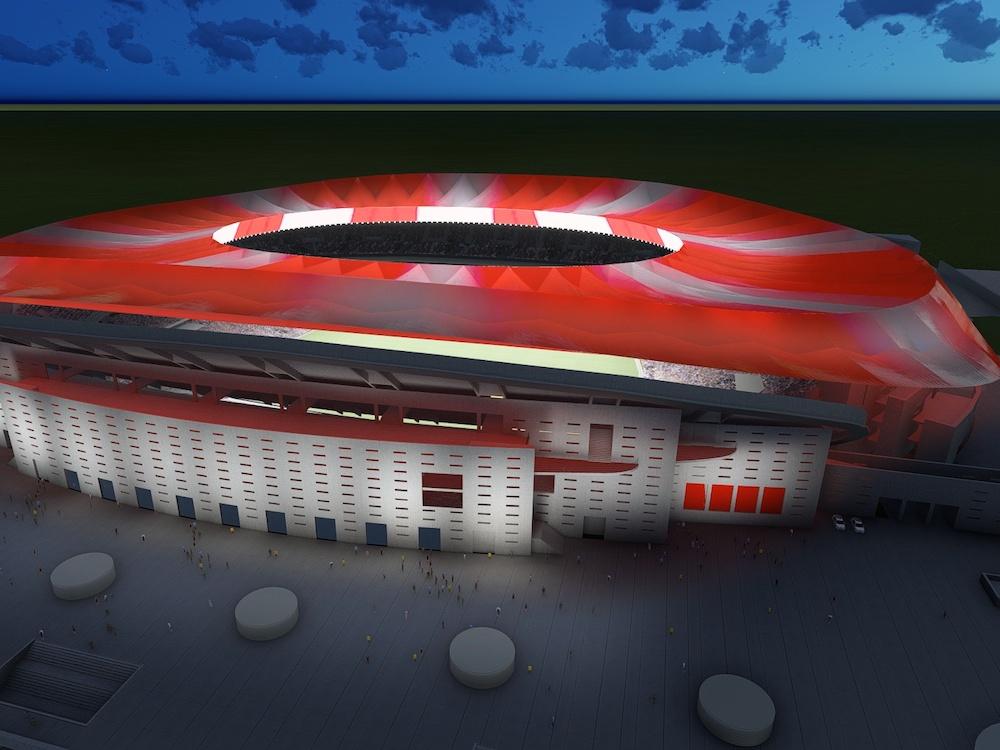 Das Estadio de Madrid wird ab 2017 von Atletico genutzt (Rendering: Philips)