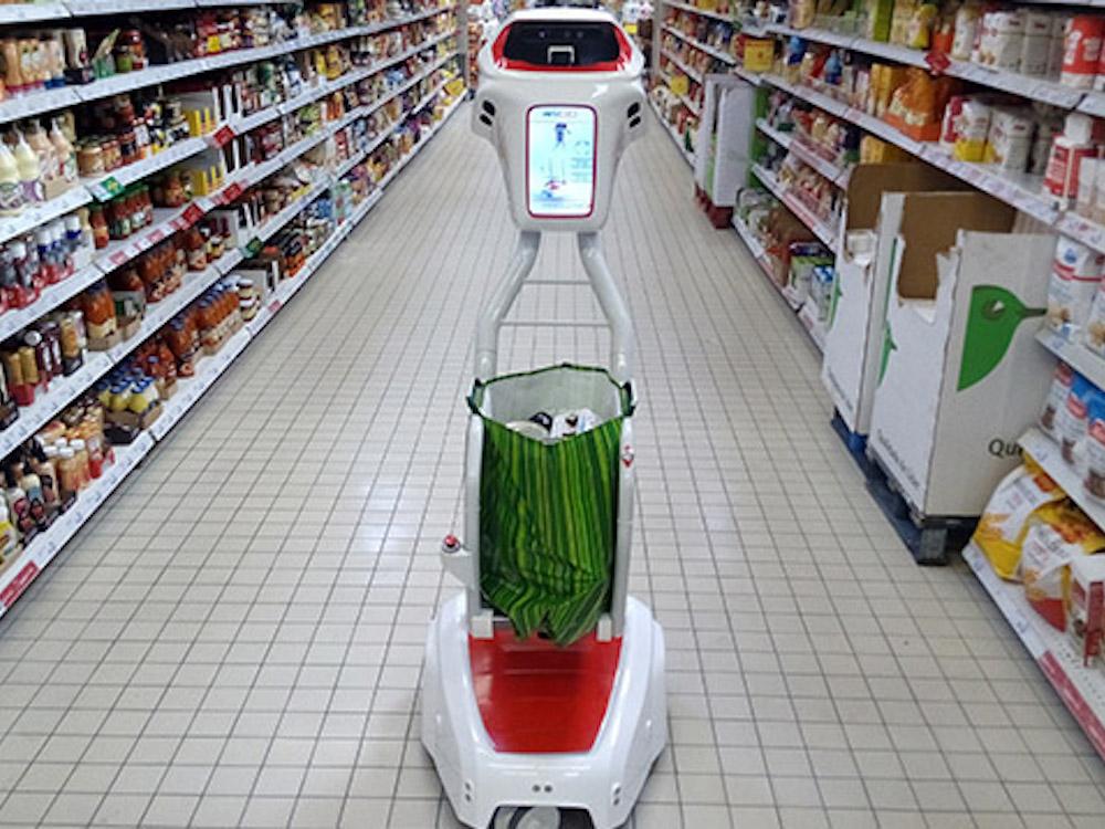 Der wiiGo im Einsatz im portugiesischen Jumbo Supermarkt (Foto: wiiGo)