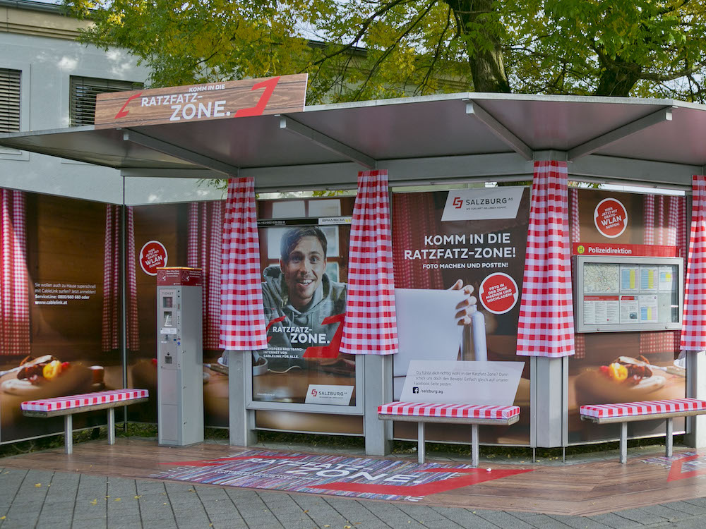 Die Ratzfatz-Zone ist ein Hingucker und bietet Free WiFi (Foto: Epamedia)