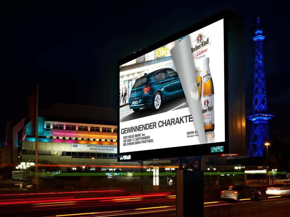 Dieser Standort wäre auch Teil der Ausschreibung - Digitales City Light Board an der Neuen Kantstraße in Berlin (Foto: Wall GmbH)