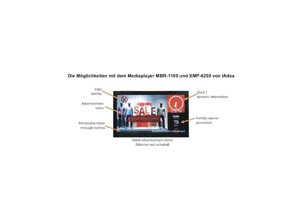 Generelle Optionen mit den genutzten Mediaplayer Modellen (Foto: itworx-pro GmbH)