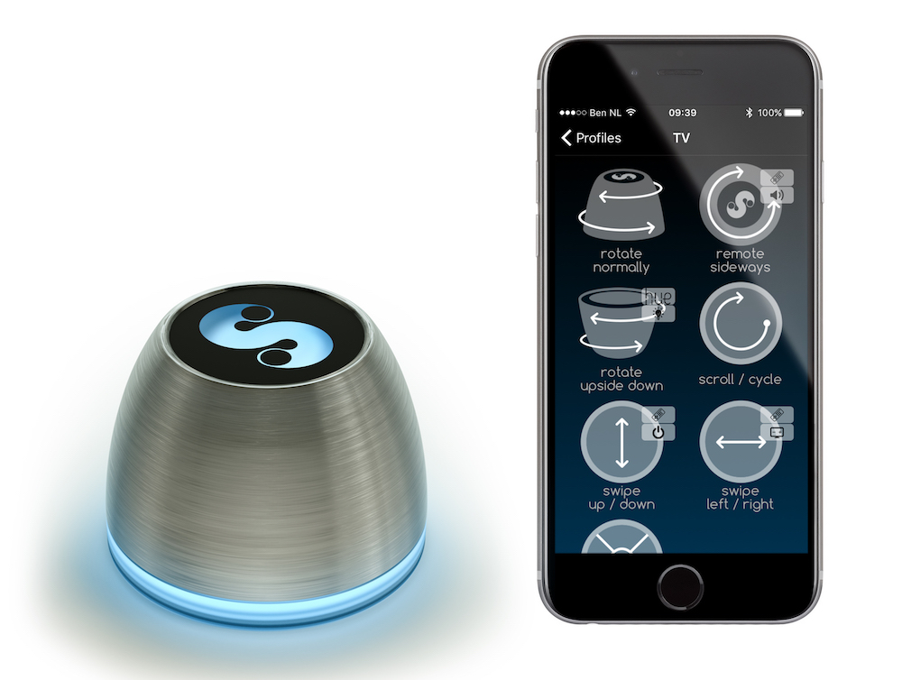 Hardware und App - SDC-1 und Smartphone (Foto: SPIN remote)