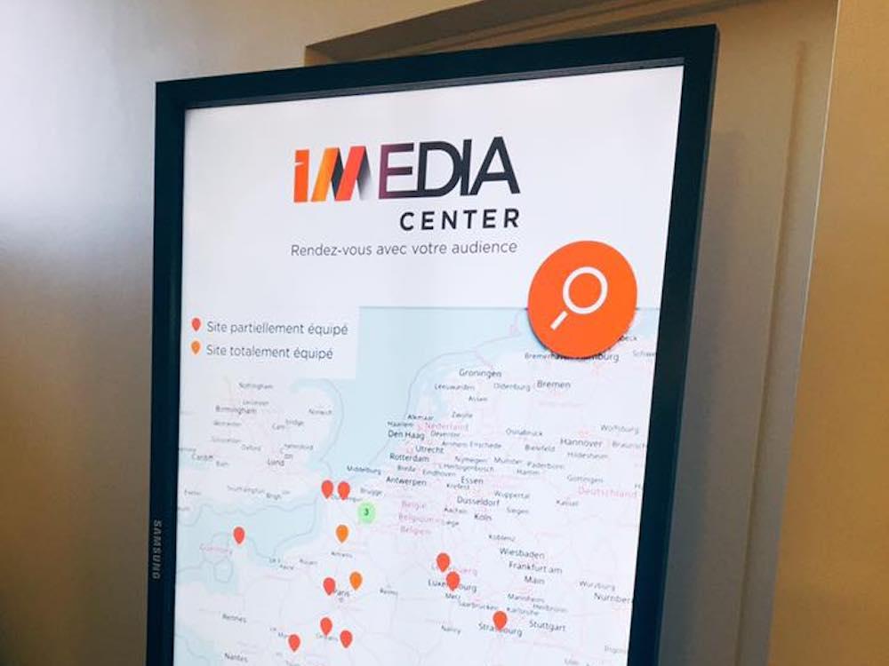 IMEDIACENTER Screen mit Ort und Anzahl der installierten Screens (Foto: IMEDIACENTER)