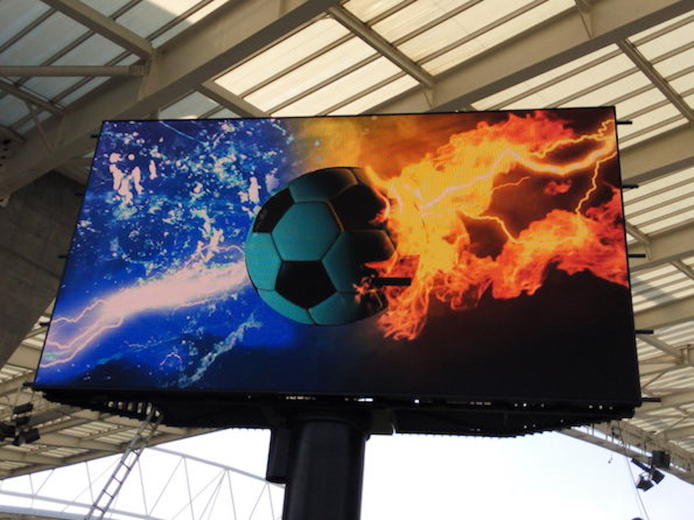 LED Screen beim FC Porto (Foto: Calibre)