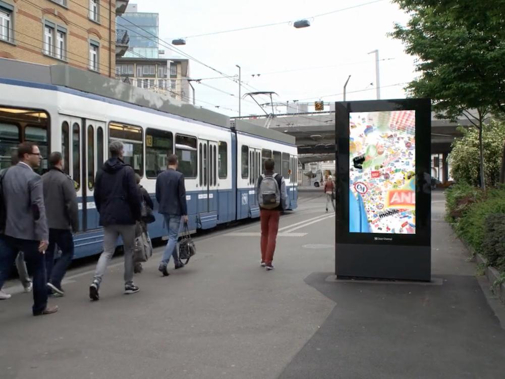 Media Owner Clear Channel bietet in der Schweiz nun ein Virtual Campaign Tool an (Screenshot: invidis)