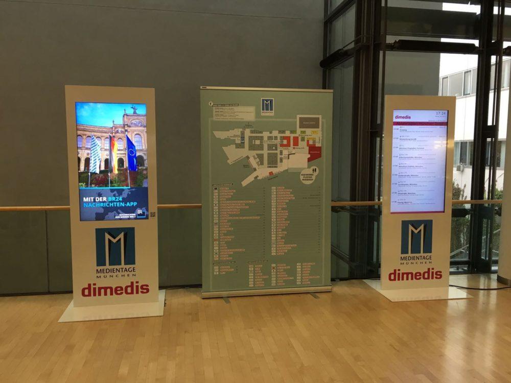 Mietstelen von dimedis auf den Medientagen 2016 (Foto: dimedis)