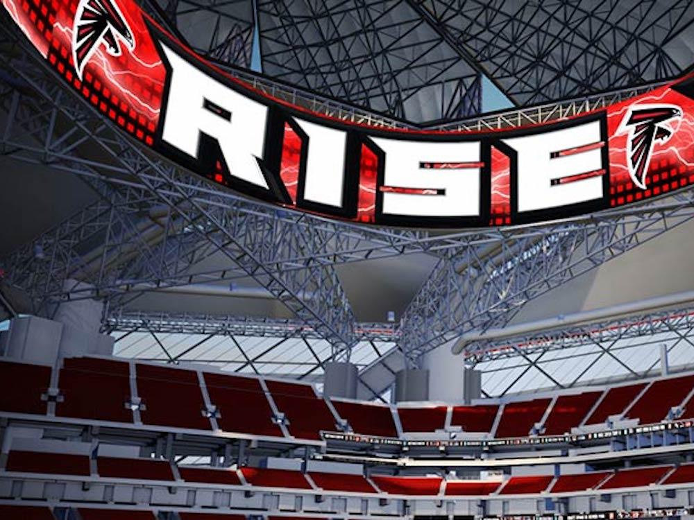 Neues Video Scoreboard in Atlanta (Foto: Daktronics)