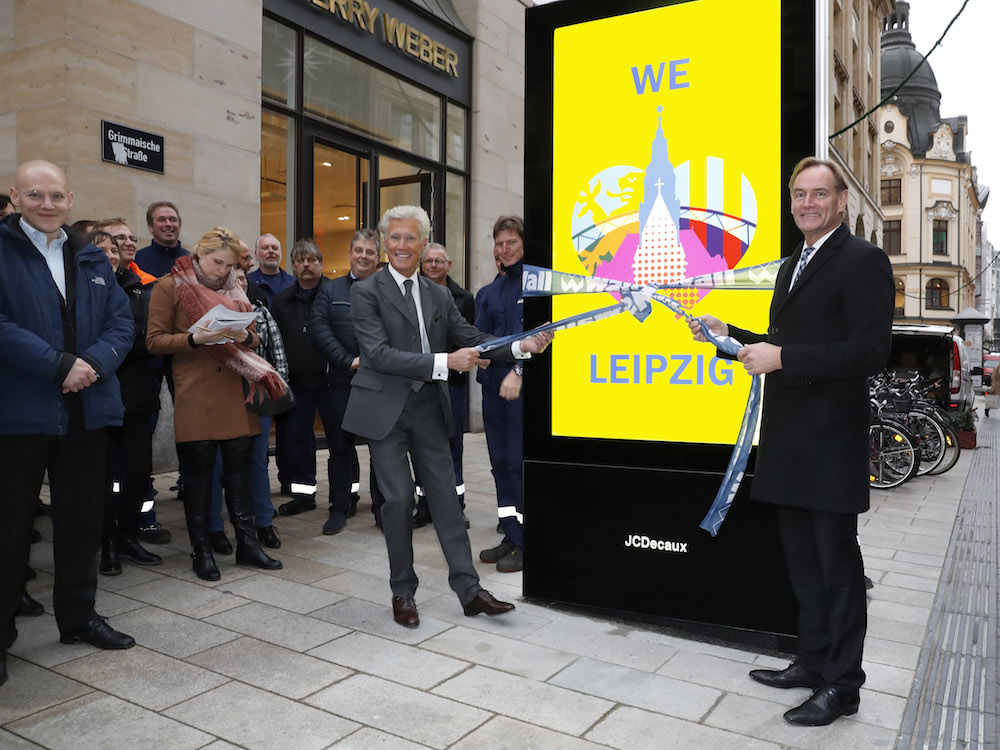 Start mit den neuen DooH Screens in Leipzig (Foto: Wall)