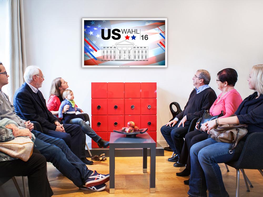 Wahlkampf im Wartezimmer - Mit dem Special wird das Großereignis Thema im Netzwerk (Foto: TV-Wartezimmer)