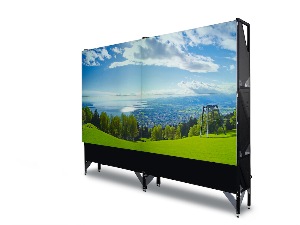 2x2 Video Wall aus vier ODL-721 Modulen.jpg (Foto: Barco)
