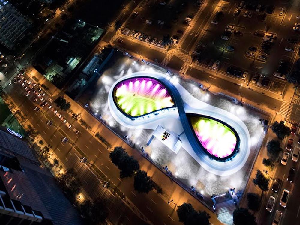 Das Nike Unlimited Stadium aus der Vogelperspektive (Foto: BBH)