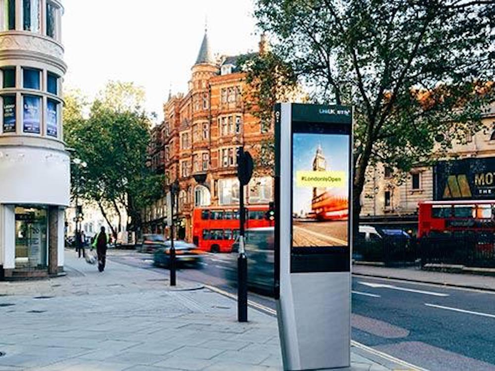 Geplante LinkUK Stele in London (Foto/ Rendering: BT)