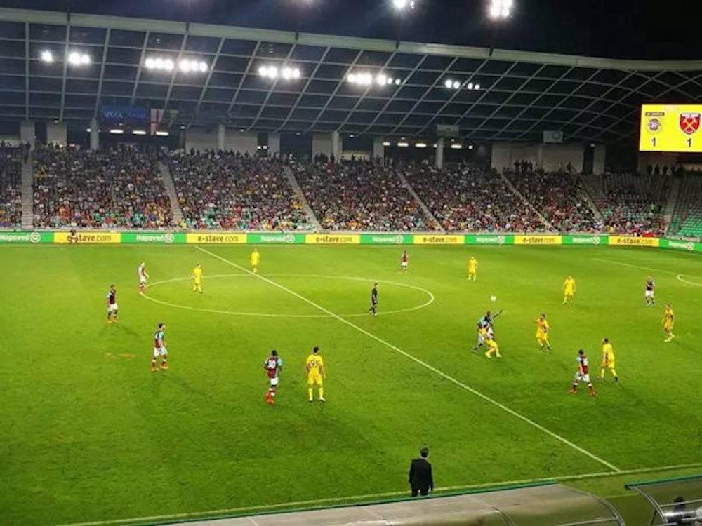 Im Jahr 2016 mit Absen Displays ausgestattetes Stadion in Slowenien (Foto: Absen)