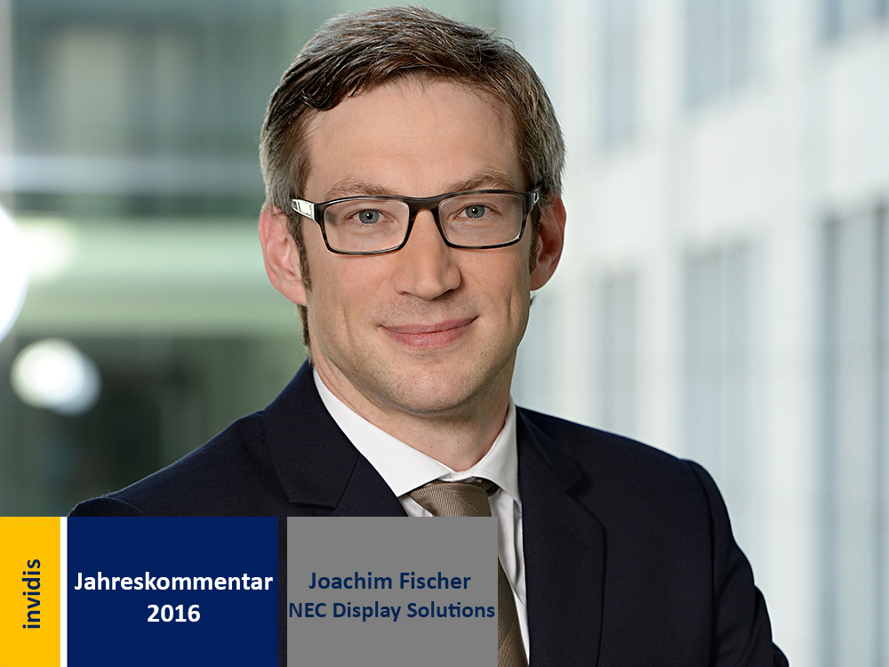 Digital Signage Jahreskommentar 2016: Joachim Fischer (Bild: NEC)