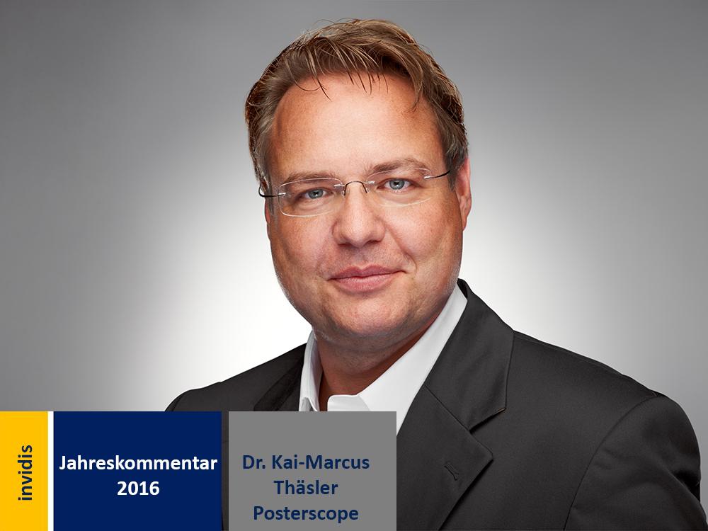 DooH-Jahreskommentar 2016: Dr. Kai-Marcus Thäsler (Bild: Posterscope)