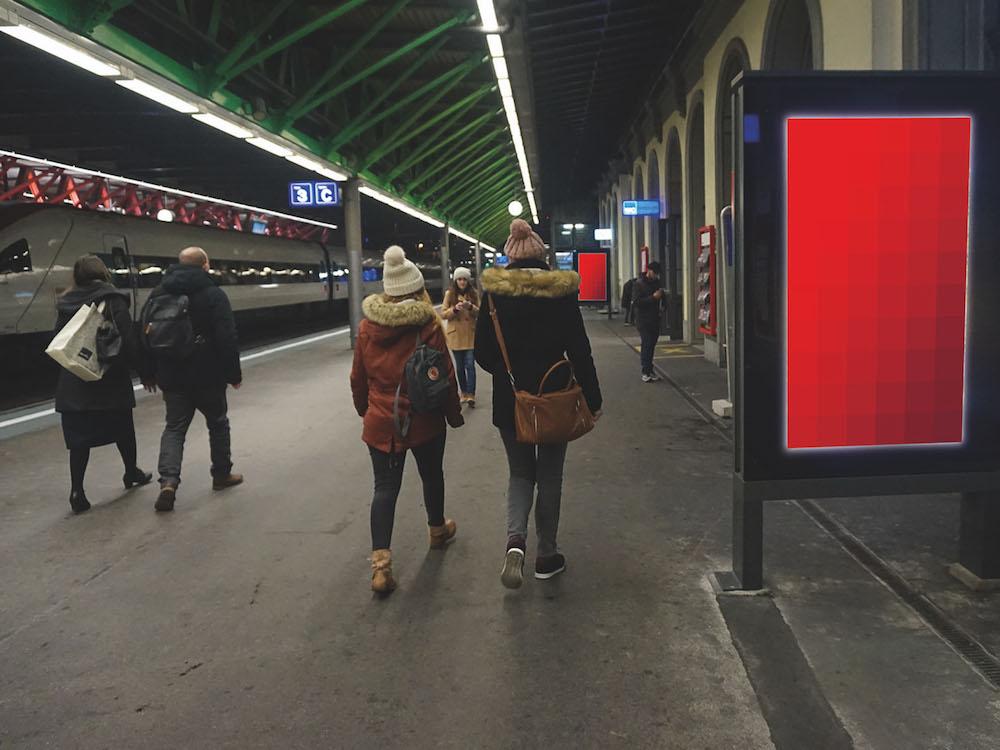Neue ePanel am Bahnhof von Winterthur (Foto: APG SGA)