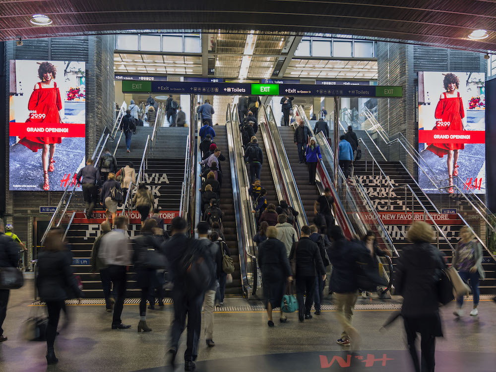 Neue grosse LED Screens in Auckland - Britomart Towers (Foto: QMS Media)