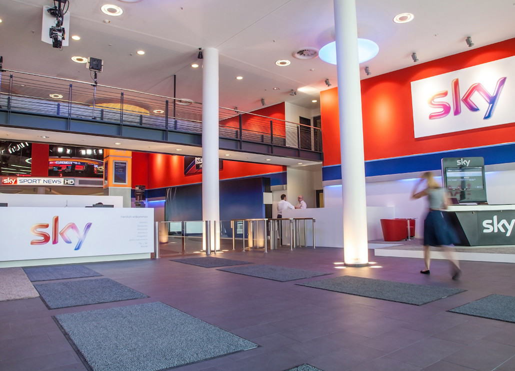 Sky Sport News auf Screens in der Sky-Unternehmenszentrale (Foto: Sky Deutschland)