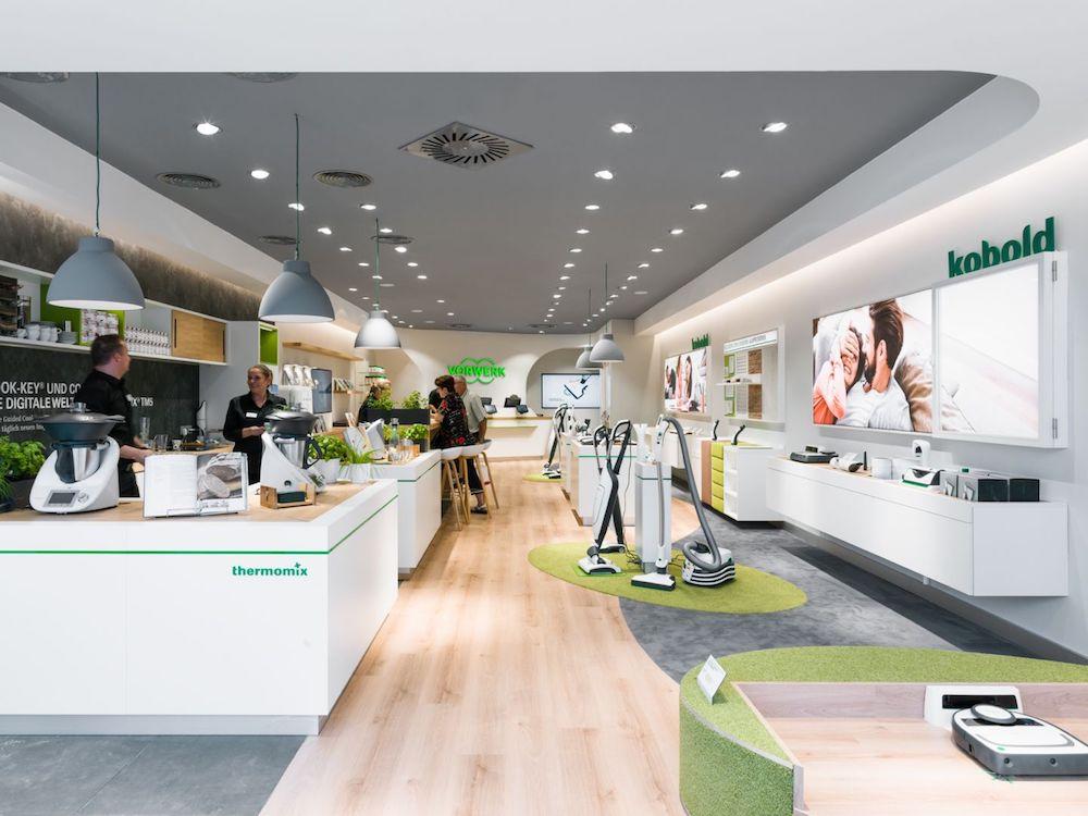 Blick in einen der neuen Vorwerk Stores in Österreich (Foto: Umdasch Shopfitting Group)