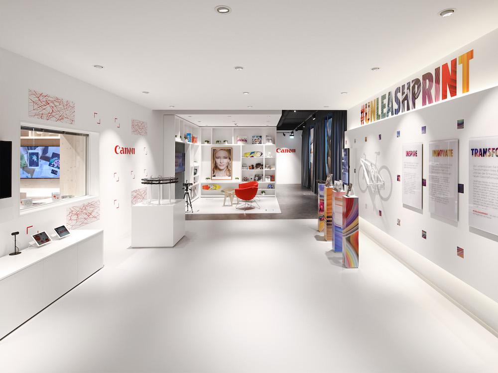 Blick ins Experience Center der neuen Deutschland-Zentrale von Canon in Krefeld (Foto: Canon)