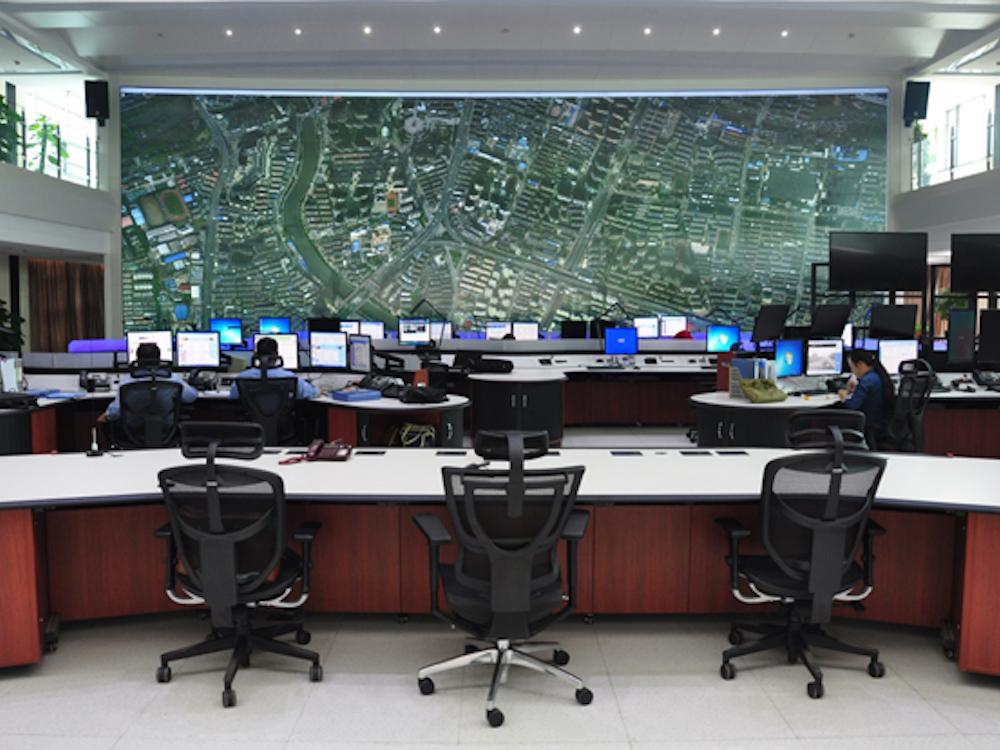 Das Intelligent Command Center in der chinesischen Stadt Hefei mit einer Delta DLP Video Wall (Foto: Delta Group)
