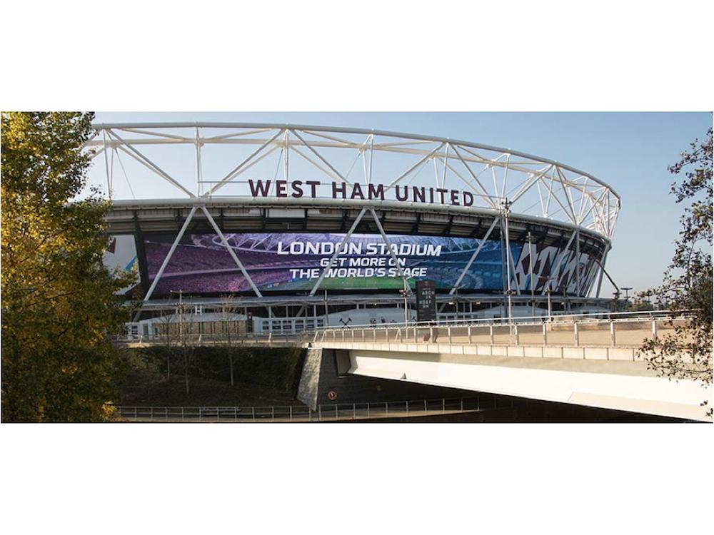 Das London Stadium nutzt jetzt Europas größten LED Screen (Foto: Daktronics)