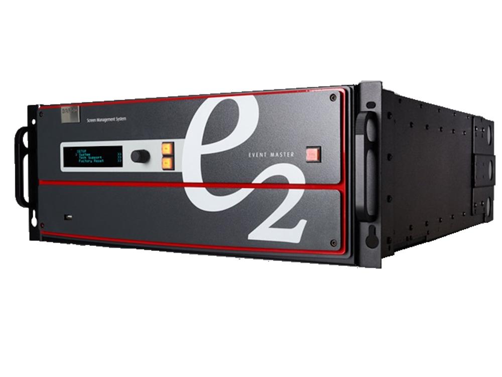 Der Barco E2 kann mit optionalem Zubehör bis zu 32 4K Projektoren verwalten (Foto: Barco)