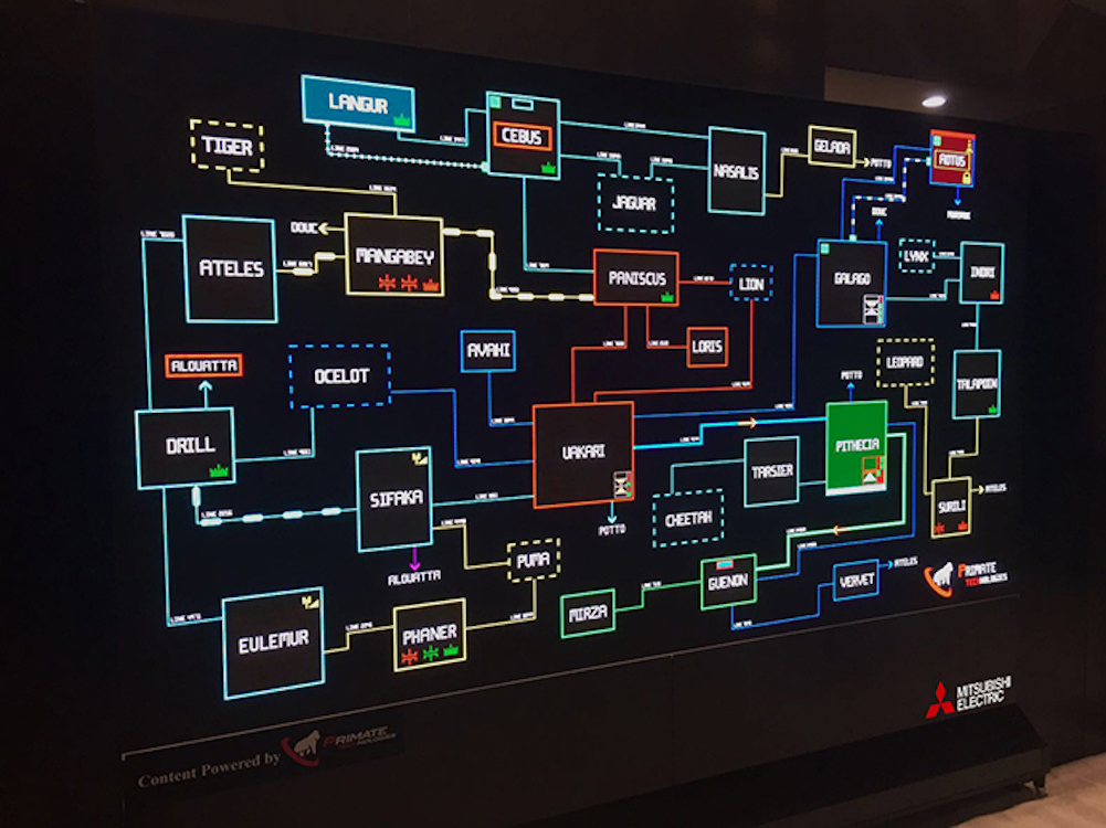 Der NPP LED Screen von Mitsubishi Electric – hier auf der Infocomm 2016 (Foto: Mitsubishi Electric)