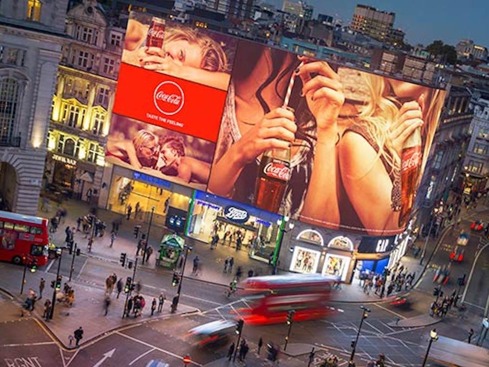 Die Piccadilly Lights werden im Herbst 2017 durch ein riesiges neues LED Board ersetzt (Foto: Daktronics)