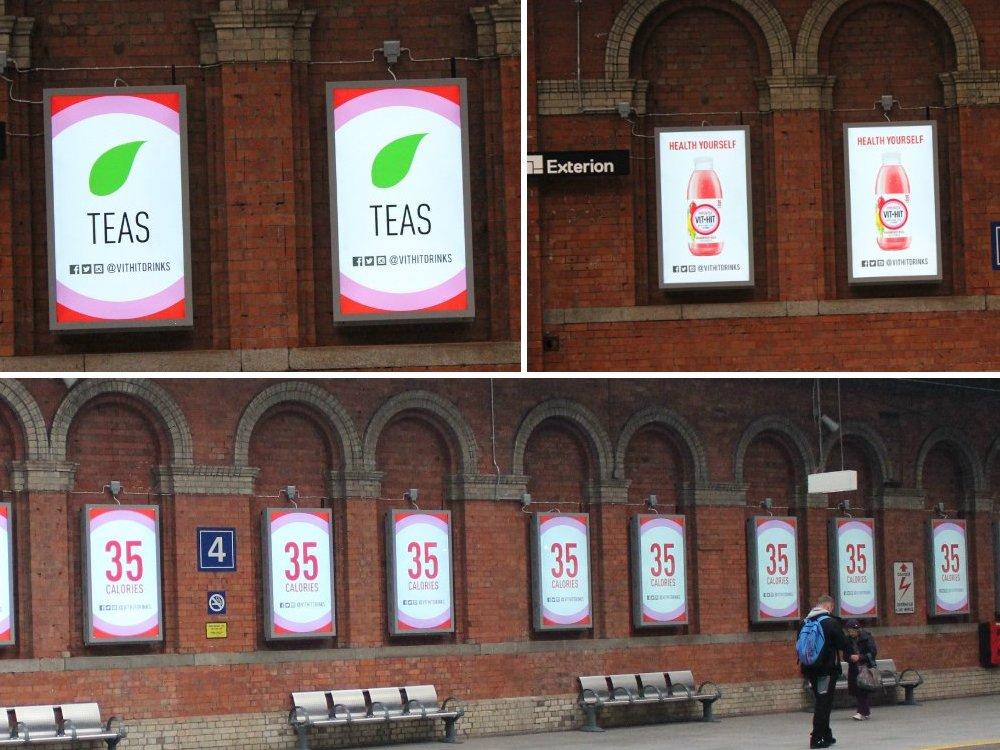 DooH Kampagne für VIT HIT in Dublin (Foto: VIT HIT)