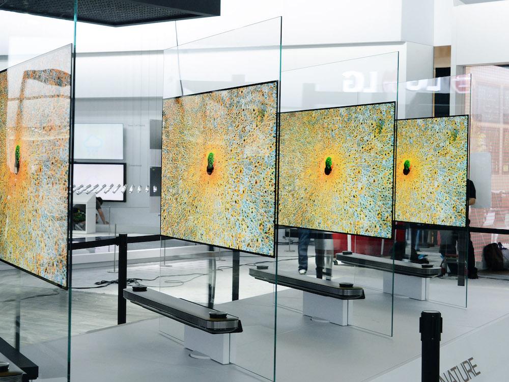 Hauchdünne OLED TVs der W Serie (Foto: LG)