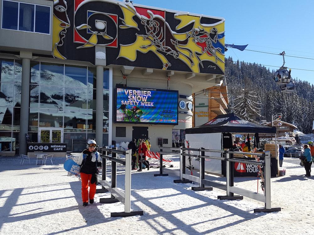 Im Skigebiet Verbier sind 30 Screens buchbar (Foto: Goldbach Media Switzerland)
