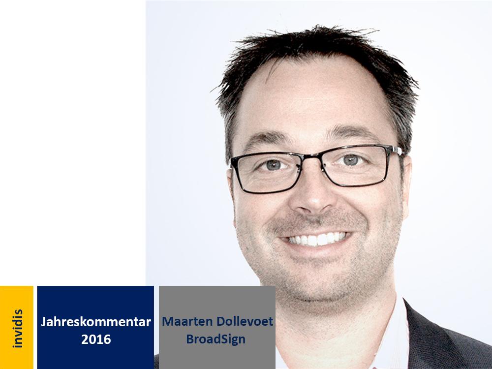 Digital Signage-Jahreskommentar: Maarten Dollevoet (Bild: BroadSign)